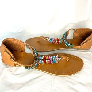 Cute sandals with Multicoloured bling